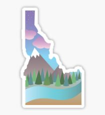 Idaho Illustrated Sticker