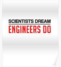 Engineers Do Art Design Poster