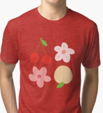 peach & cherry Tri-blend T-Shirt
