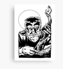 The Wolfman Black And White Canvas Print