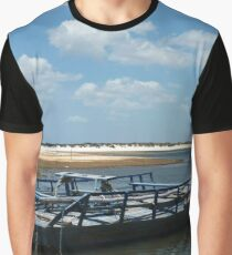 Blue boat waiting for tourists Graphic T-Shirt