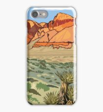 Vintage Travel Poster – Red Rock Canyon National Conservation Area iPhone Case/Skin