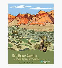 Vintage Travel Poster – Red Rock Canyon National Conservation Area Photographic Print