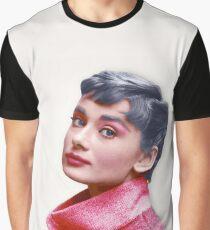 Movie Star Art - Aubrey Hepburn Graphic T-Shirt