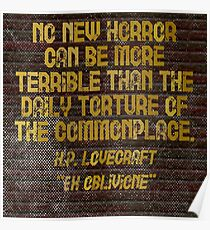 """H.P. LOVECRAFT - """"No Horror Can Be More . . . """" Poster"""