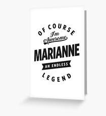 Marianne Greeting Card
