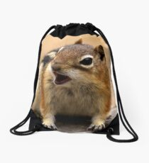 Baby Ground Squirrel Drawstring Bag