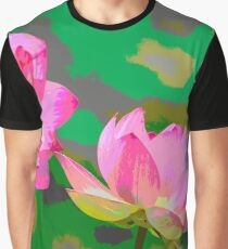 Abtract of Lotus Flowers Graphic T-Shirt
