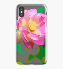 Abtract of Lotus Flowers iPhone Case
