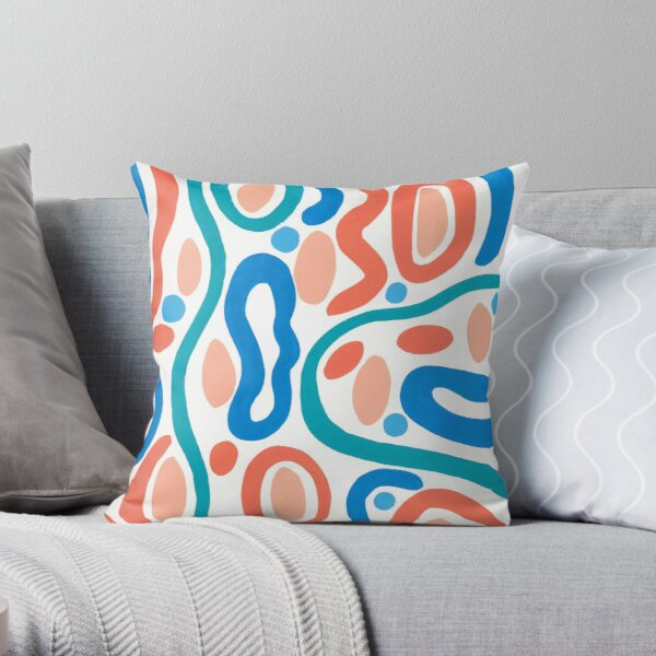 Bold and bright with a touch of 1980 Throw Pillow