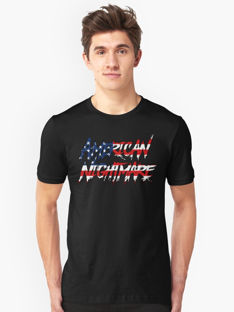 American Nightmare Tee American Flag T Shirt By Dmycb Redbubble