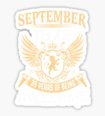 Born In August 1978 39 Years Of Being Awesome Sticker