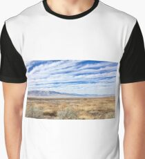 Bright Blue Sky Over Field Graphic T-Shirt