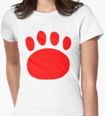 Red Samurai Jack Paw Print T-Shirt