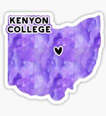 Kenyon College - Style 3 Sticker