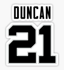 Tim Duncan Jersey Sticker