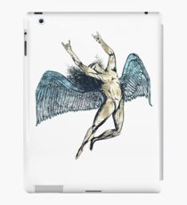 ICARUS THROWS THE HORNS - super blue grunge NEW iPad Case/Skin