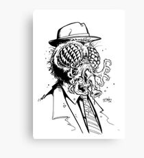 The Fly Black And White Metal Print