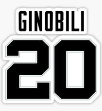 Manu Ginobili Jersey Sticker