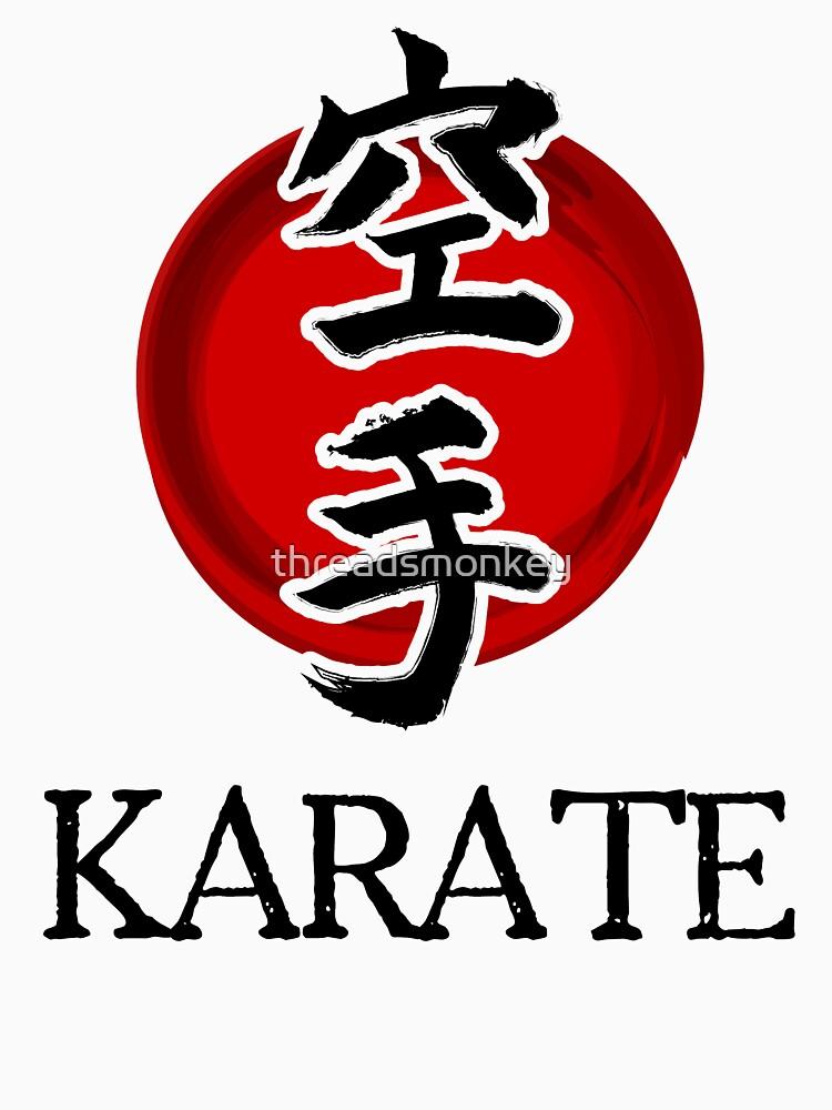 Japanese Karate Shirt Flag Symbol Dark Unisex T Shirt By