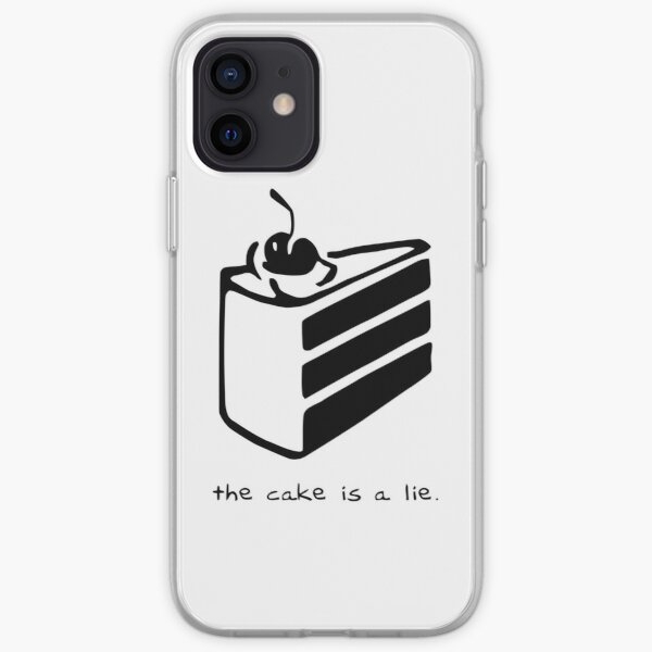The Cake is a Lie iPhone Soft Case