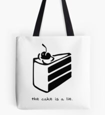 Bolsa de tela El pastel es una mentira