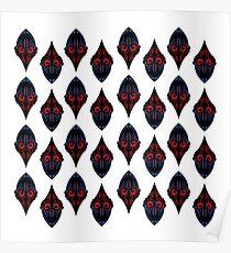 Mandalas orient black. Original artwork. Poster