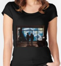 Starry Night at Fight Club Women's Fitted Scoop T-Shirt