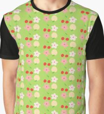 peach & cherry Graphic T-Shirt