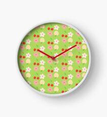 peach & cherry Clock
