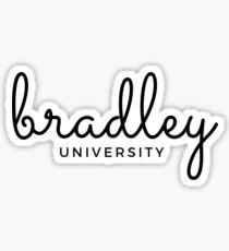 Bradley University cursive handwriting Sticker