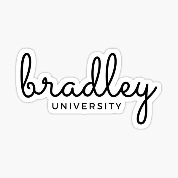 Letra cursiva de la Universidad de Bradley Pegatina