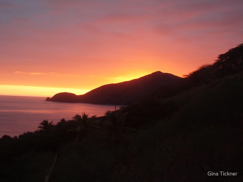 Sunrise over Waya Island in the Yasawa Islands, Fiji by Gina Tickner