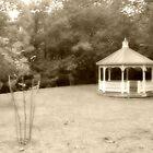 Nostalgic Gazebo in the Glen (Toney's Brook Park), Glen Ridge, NJ by Jane Neill-Hancock