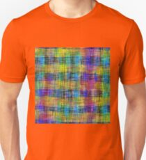 plaid pattern abstract texture in yellow pink blue T-Shirt