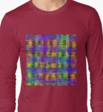plaid pattern abstract texture in purple yellow green T-Shirt