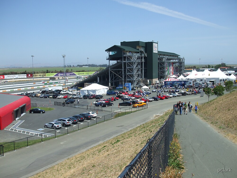 the grandstand at infenion raceway by pclark