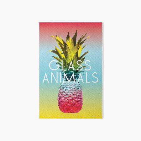 Cartel de viaje de animales de vidrio Lámina rígida