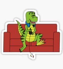 Monty the Gamer-Rex Sticker