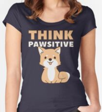 Think Pawsitive Women's Fitted Scoop T-Shirt