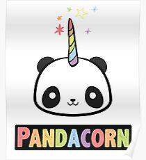 Pandacorn Unicorn Kawaii Funny Rainbow Graphic Tee Shirt Poster