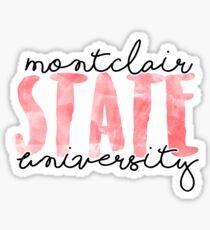 Montclair State University Sticker