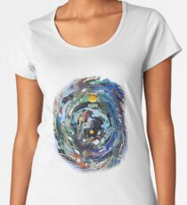 Psychedelic Space  Women's Premium T-Shirt