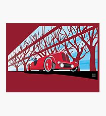 Ford Edsel vintage racer illustration Photographic Print