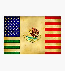MEXICAN AMERICAN FLAG - 017 Photographic Print