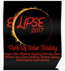 Solar Eclipse USA Path of Totality 2017 Poster