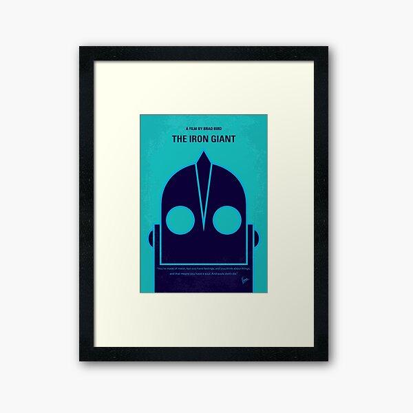 No406- The Iron Giant minimal movie poster Framed Art Print