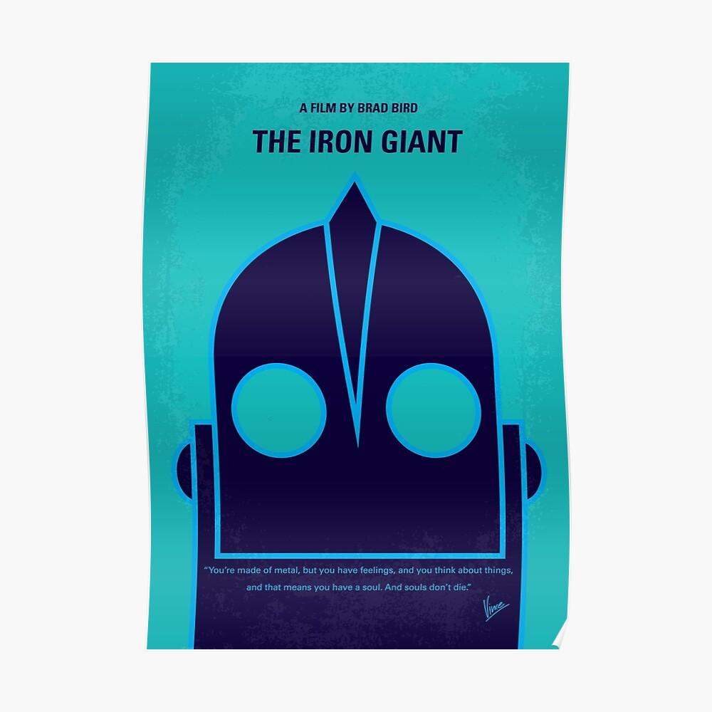 No406 - Das Minimalistische Filmplakat des Iron Giant Poster