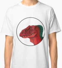 Four Eyed Dino Crest Classic T-Shirt