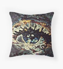 The void stares back Throw Pillow